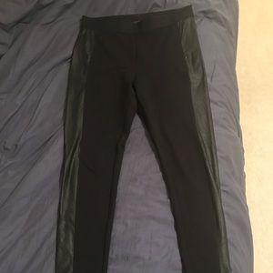 BCBG pleather panel leggings size medium